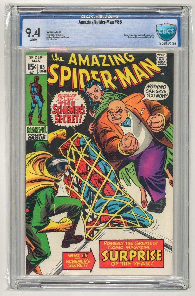 CBCS 9.4 Amazing Spider-Man #85 1970