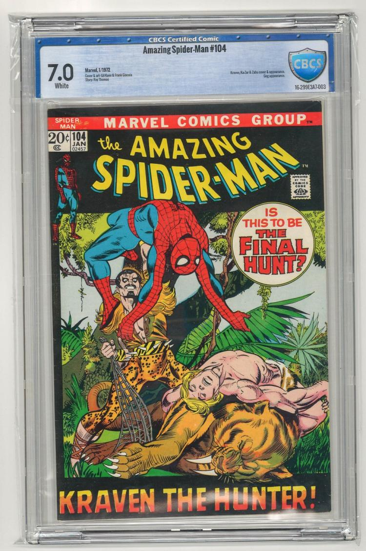 CBCS 7.0 Amazing Spider-Man #104 1972