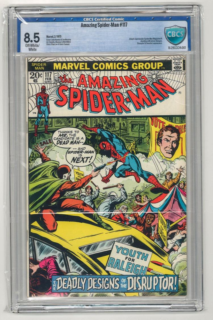 CBCS 8.5 Amazing Spider-Man #117 1973