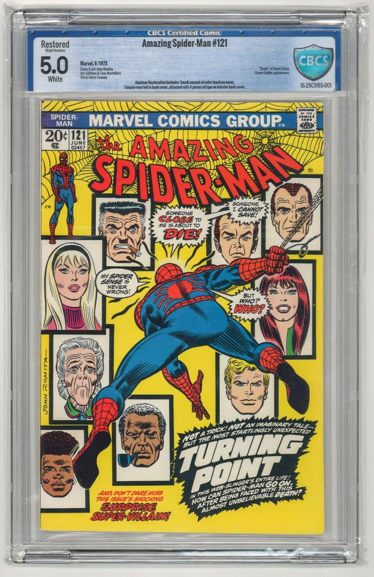 CBCS 5.0 Amazing Spider-Man #121 1973
