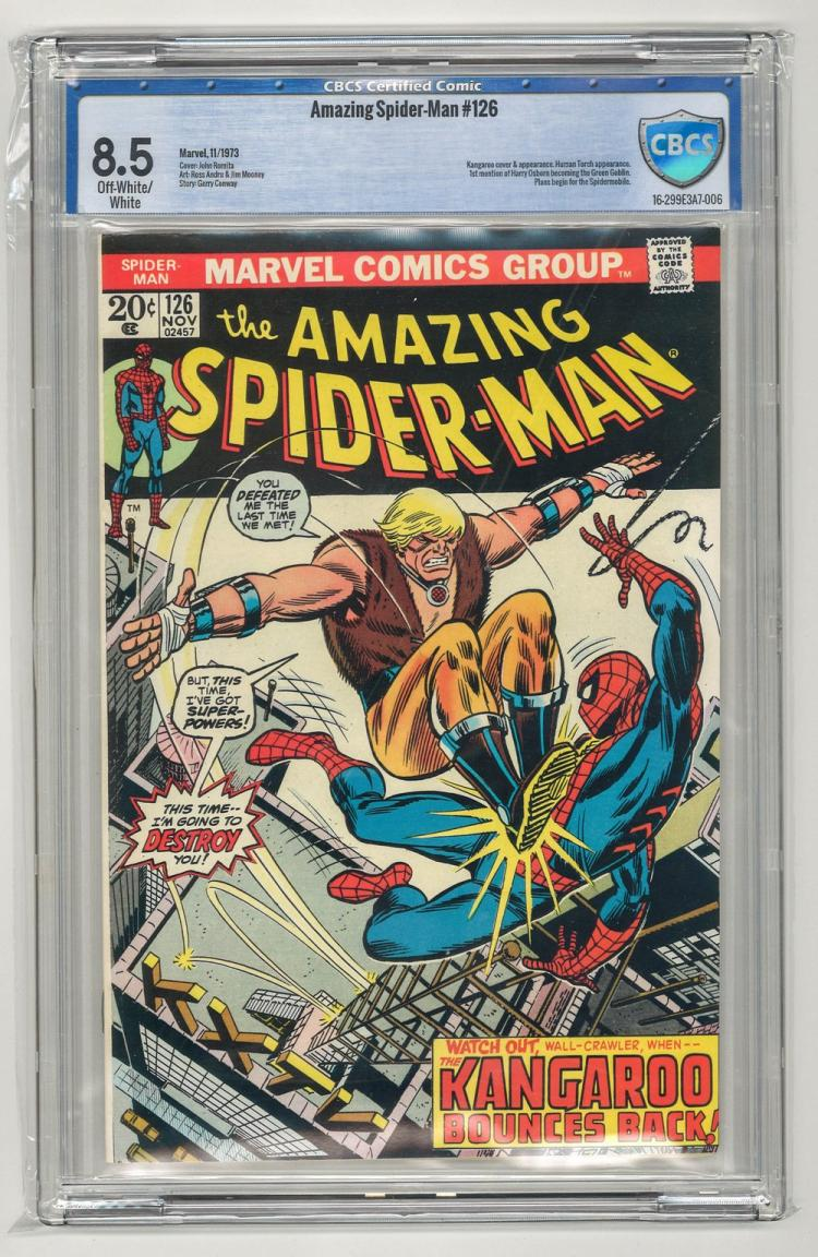 CBCS 8.5 Amazing Spider-Man #126 1973