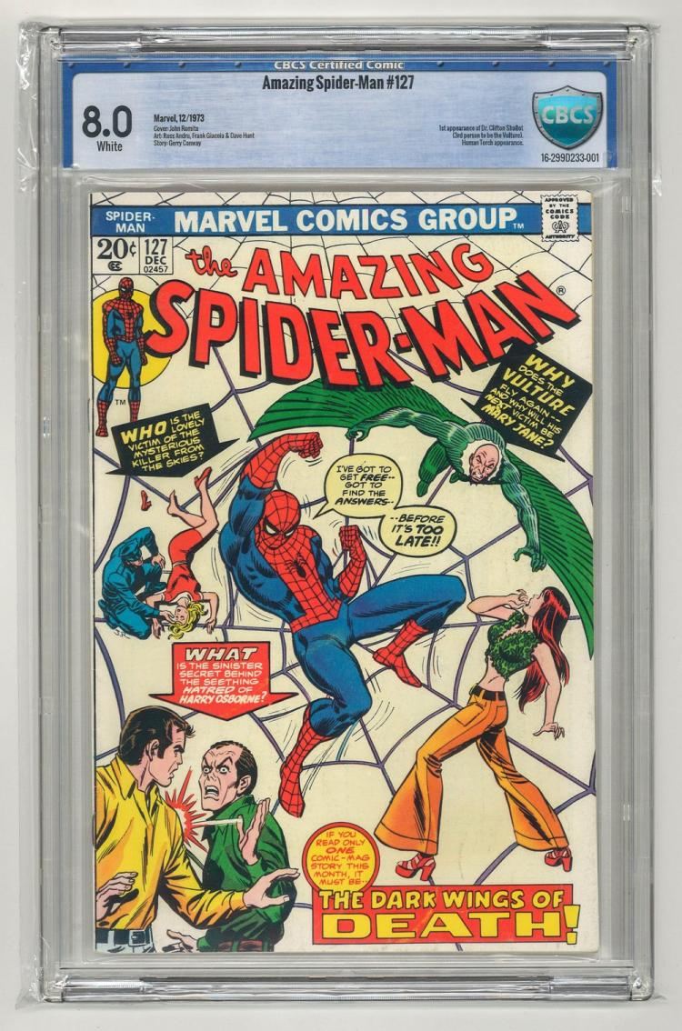 CBCS 8.0 Amazing Spider-Man #127 1973