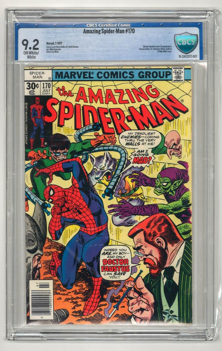 CBCS 9.2 Amazing Spider-Man #170 1977