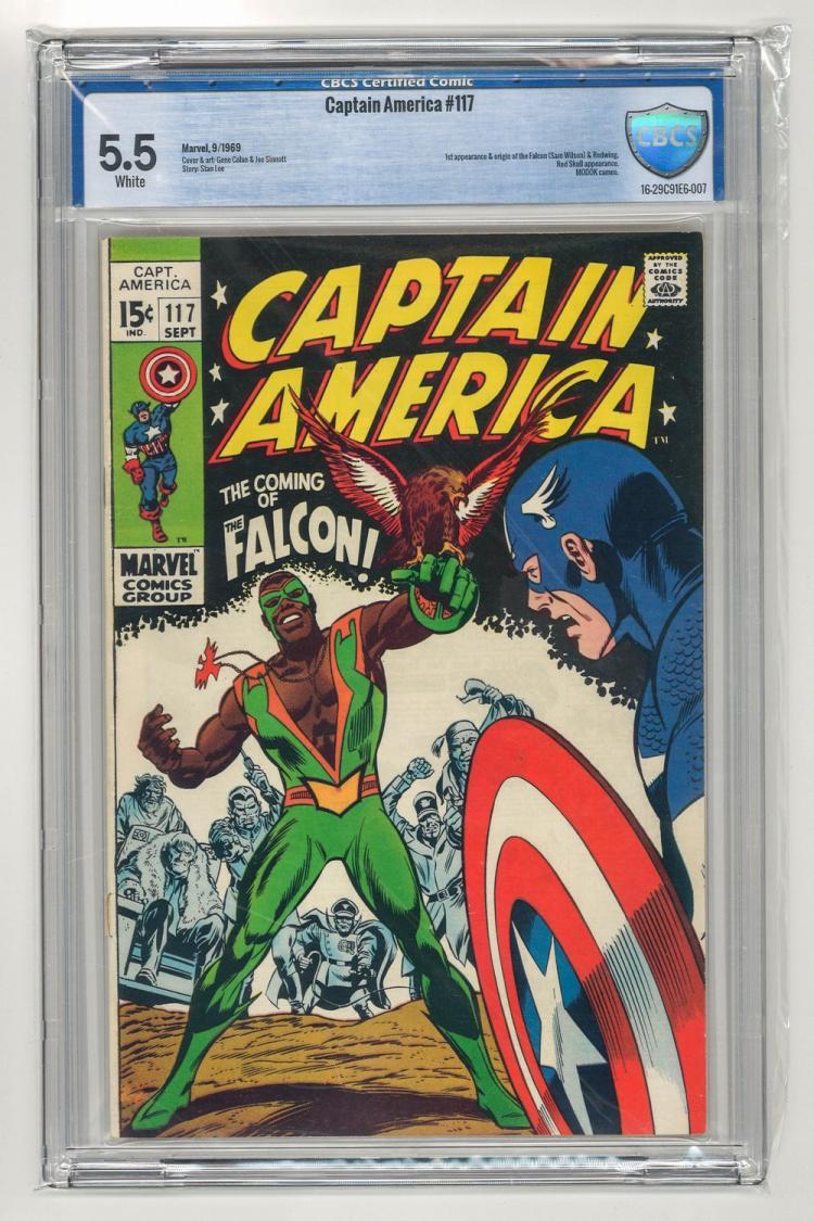 CBCS 5.5 Captain America #117 1969