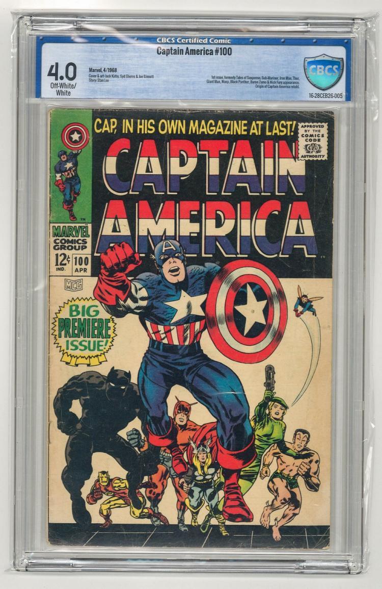 CBCS 4.0 Captain America #100 1968