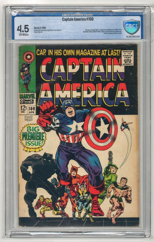 CBCS 4.5 Captain American #100 1968