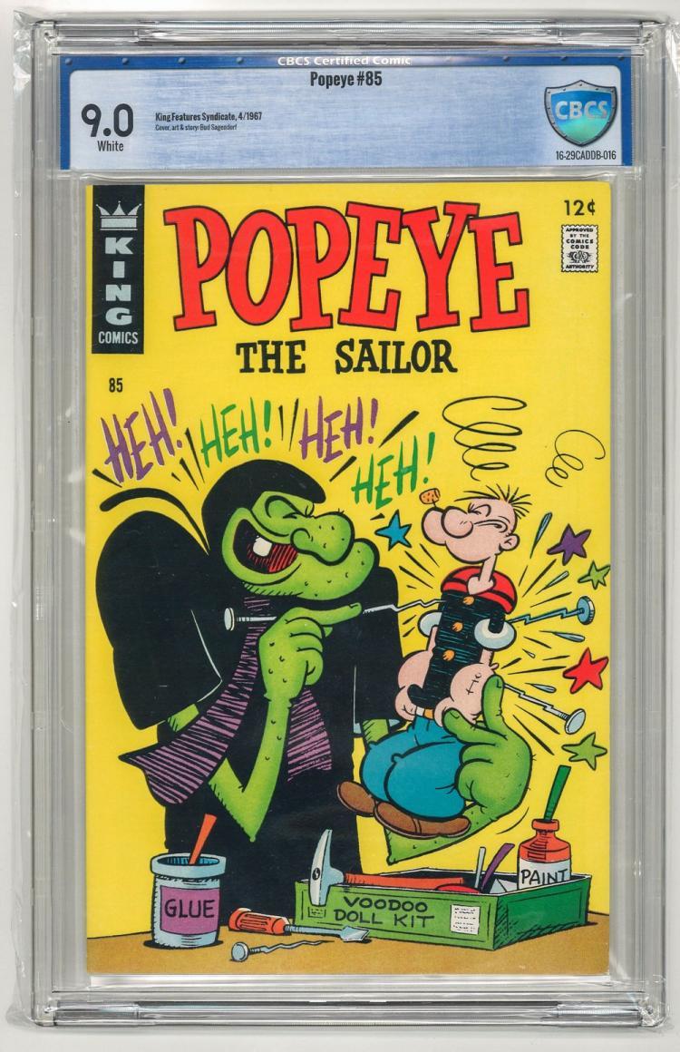 CBCS 9.0 Popeye #85 1967