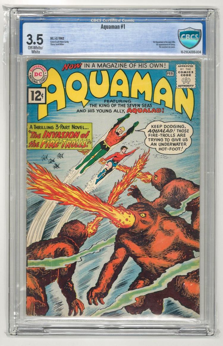 CBCS 3.5 Aquaman #1 1962
