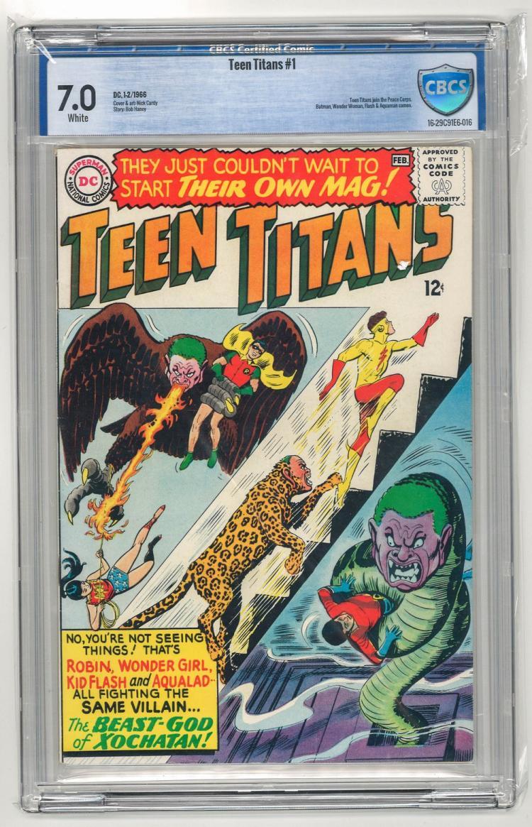 CBCS 7.0 Teen Titans #1 1966