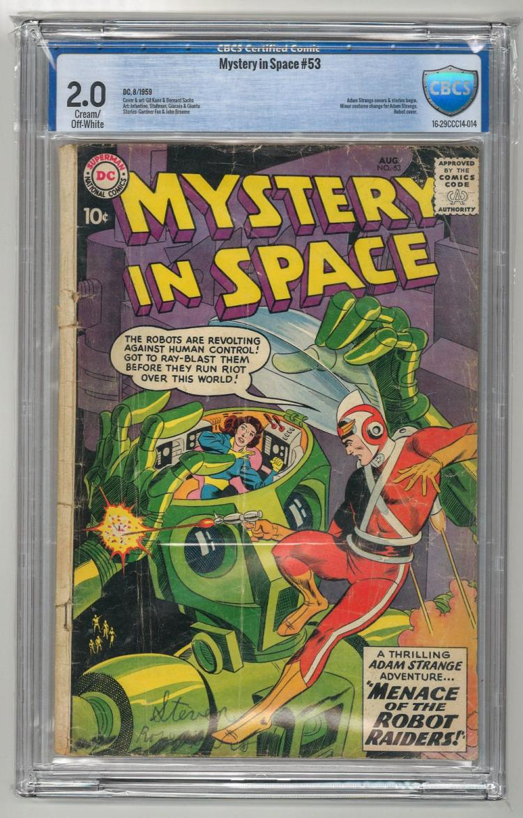CBCS 2.0 Mystery in Space #53 1959