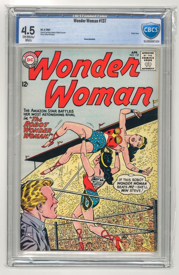 CBCS 4.5 Wonder Woman #137 1963