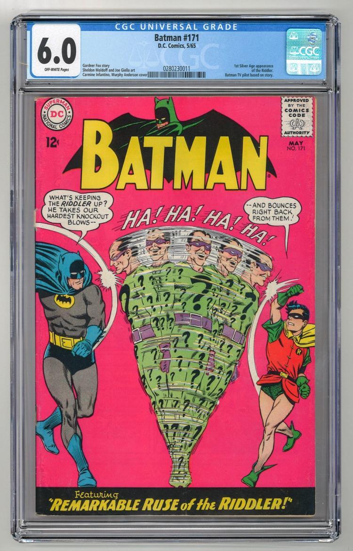 CGC 6.0 Batman #171 1965