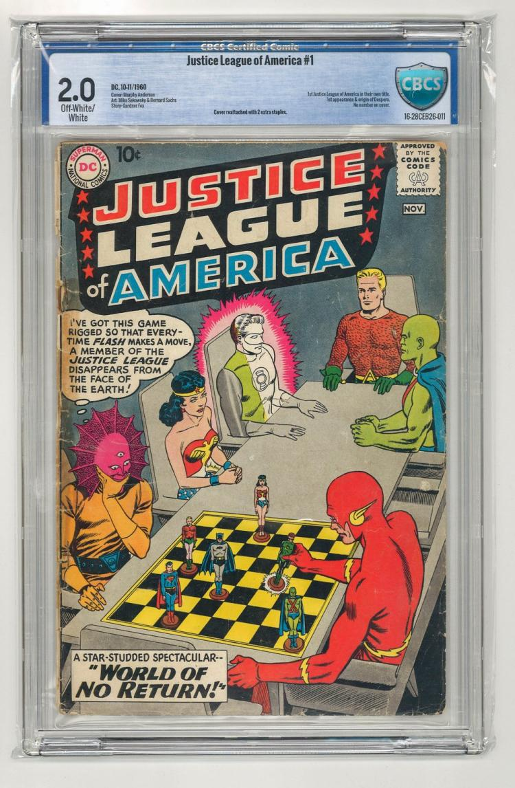 CBCS 2.0 Justice League of America #1 1960