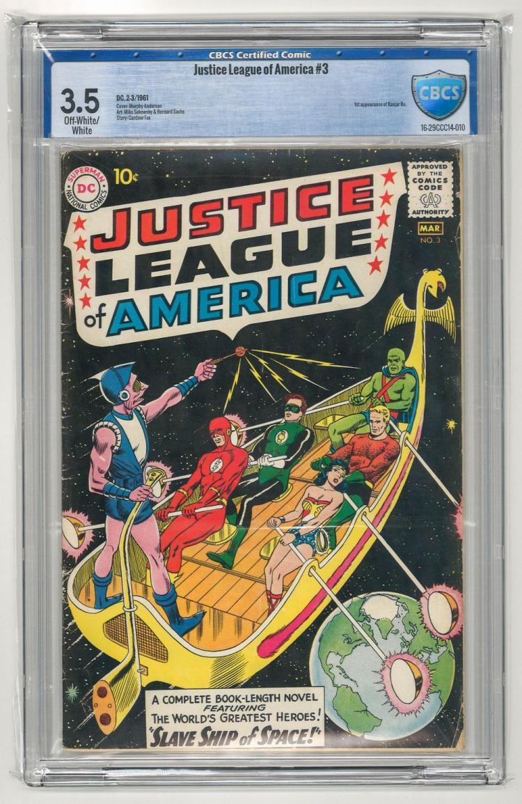 CBCS 3.5 Justice League of America #3 1961