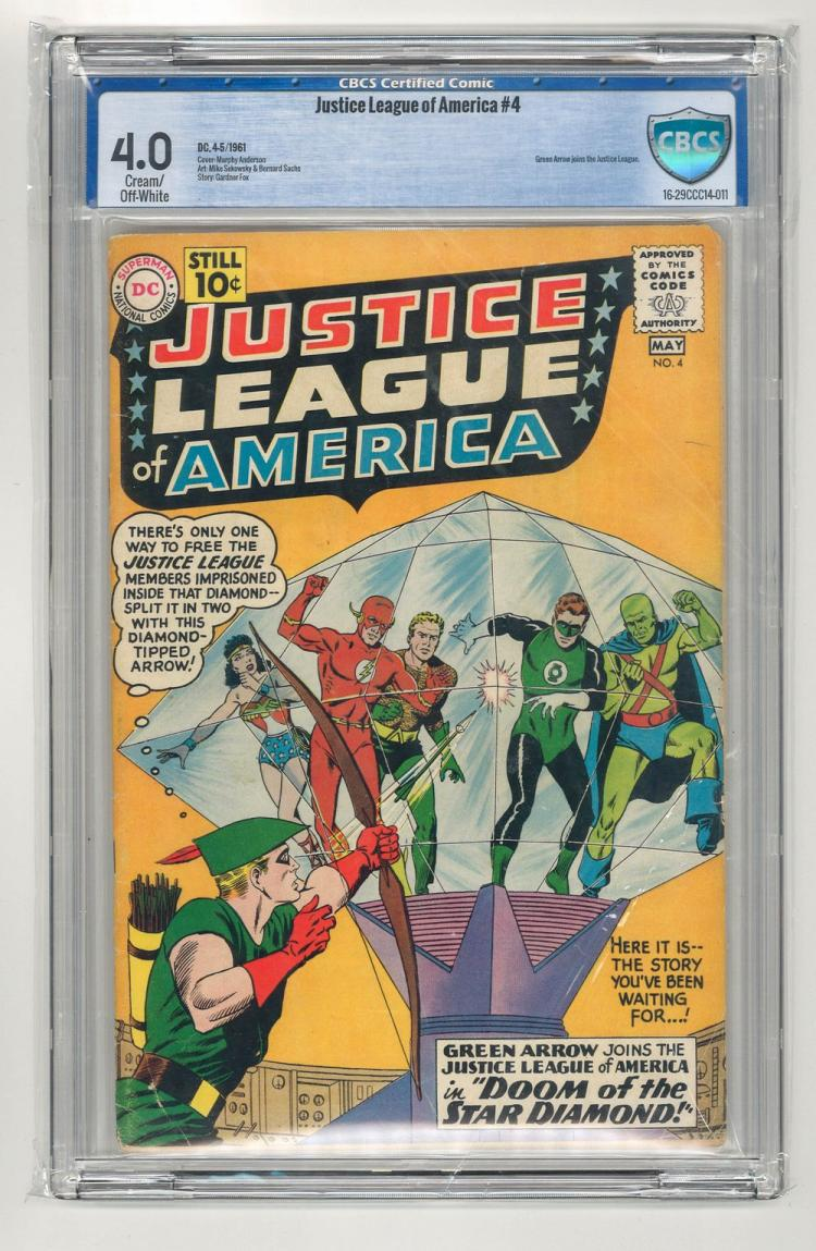 CBCS 4.0 Justice League of America #4 1961