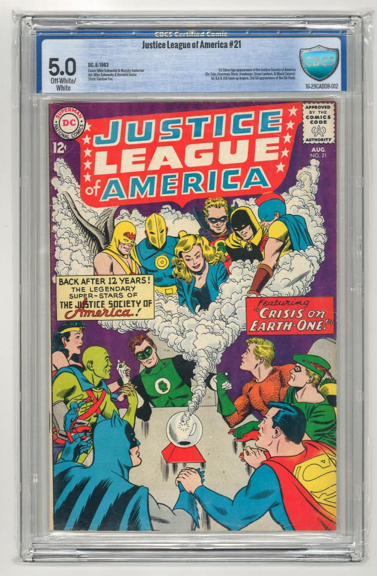 CBCS 5.0 Justice League of America #21 1963