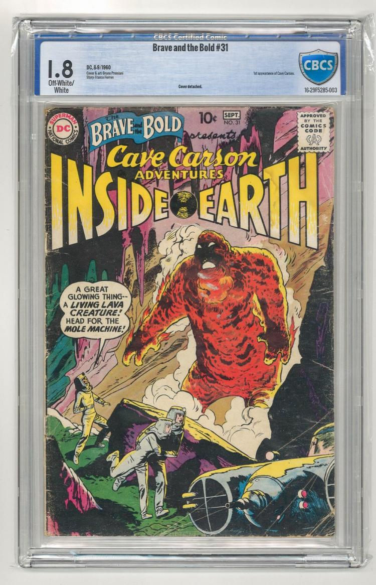 CBCS 1.8 Brave and the Bold #31 1960