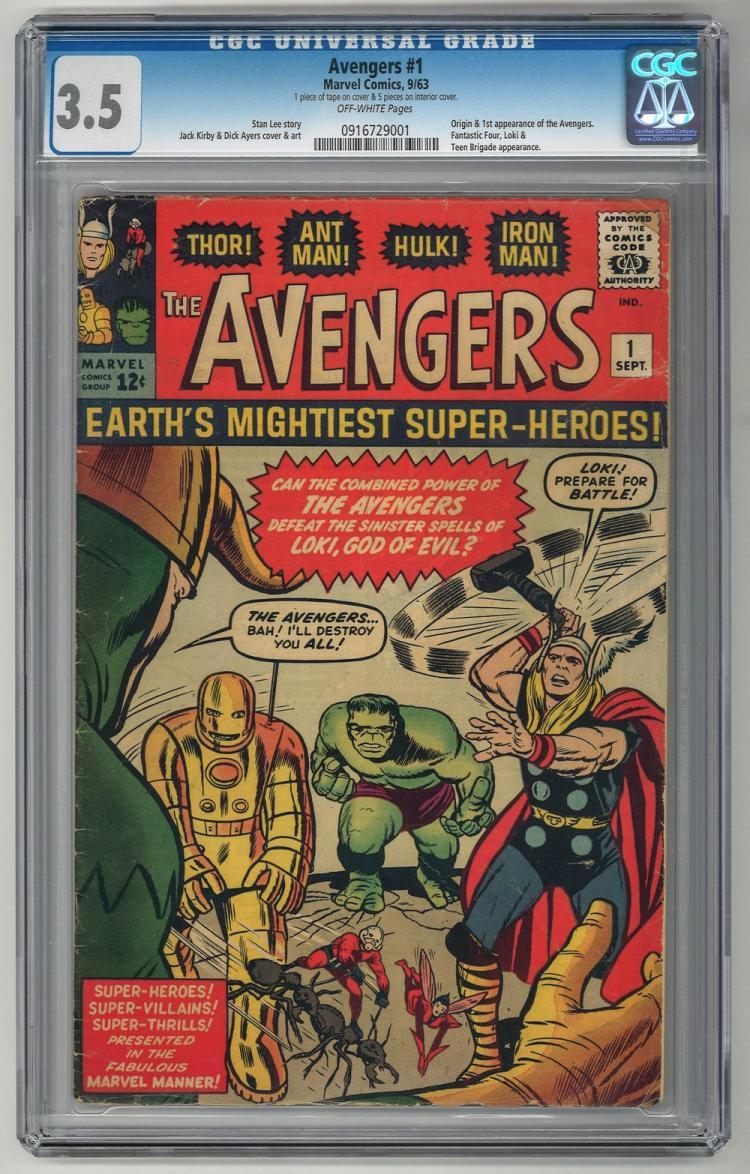 CGC 3.5 Avengers #1 1963