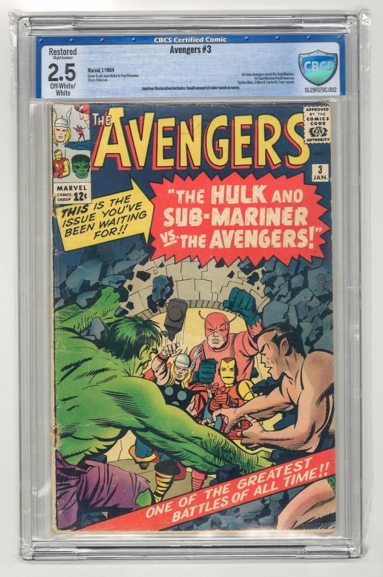 CBCS 2.5 Avengers #3 1964