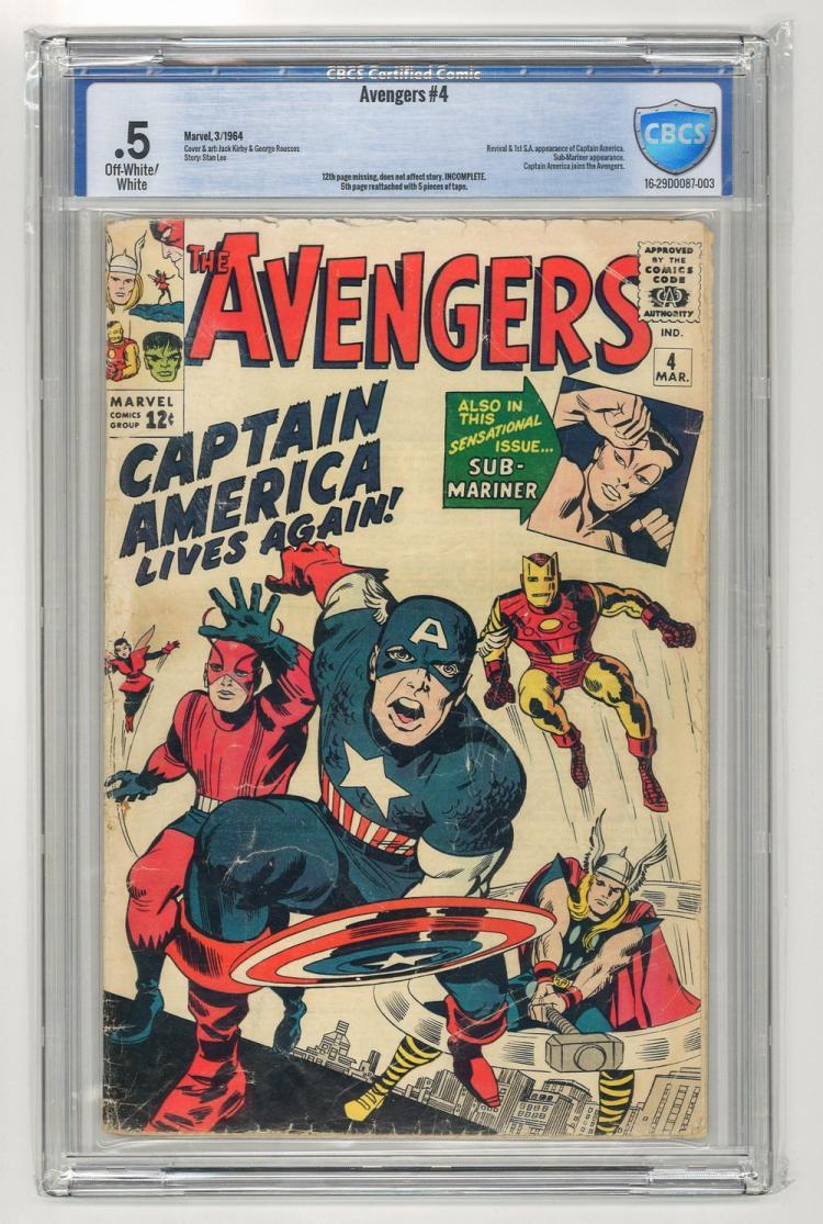 CBCS .5 Avengers #4 1964