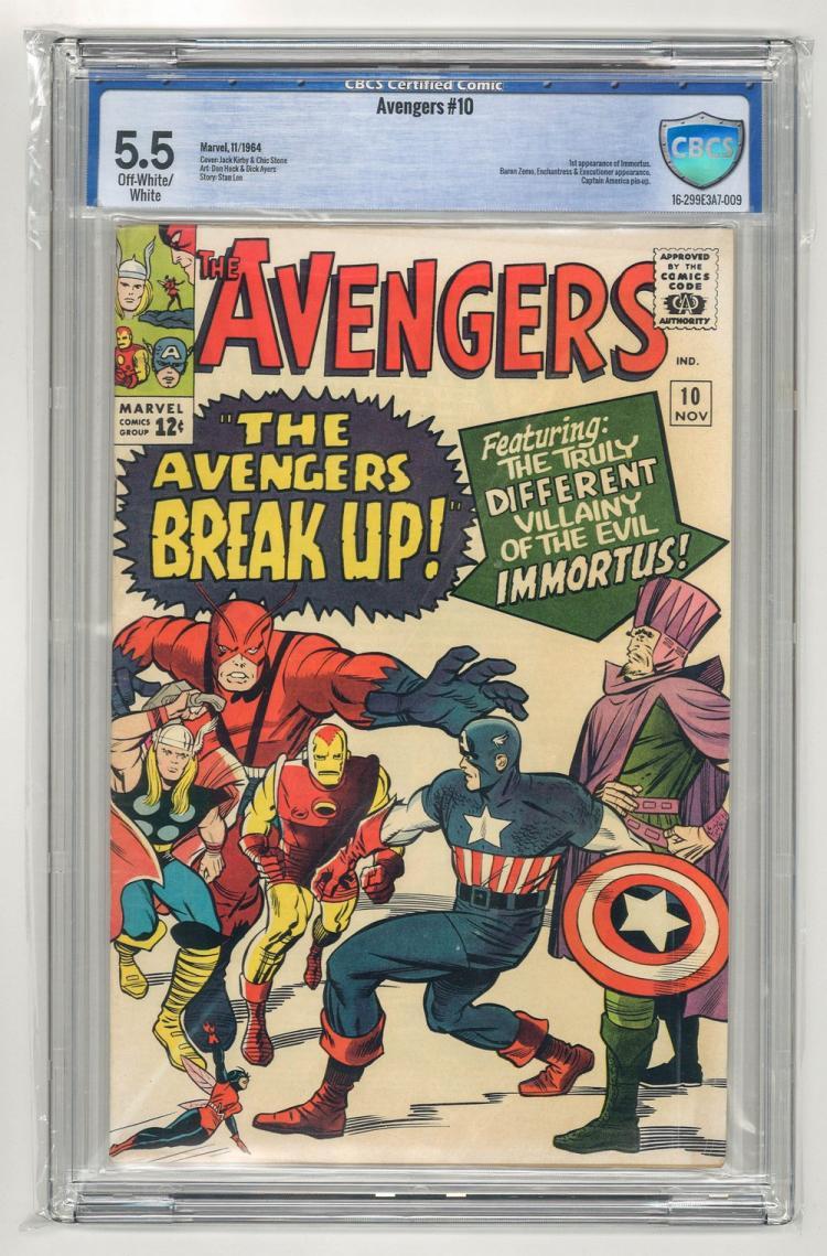 CBCS 5.5 Avengers #10 1964