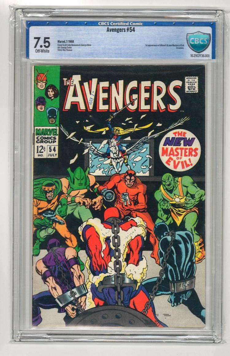CBCS 7.5 Avengers #54 1968