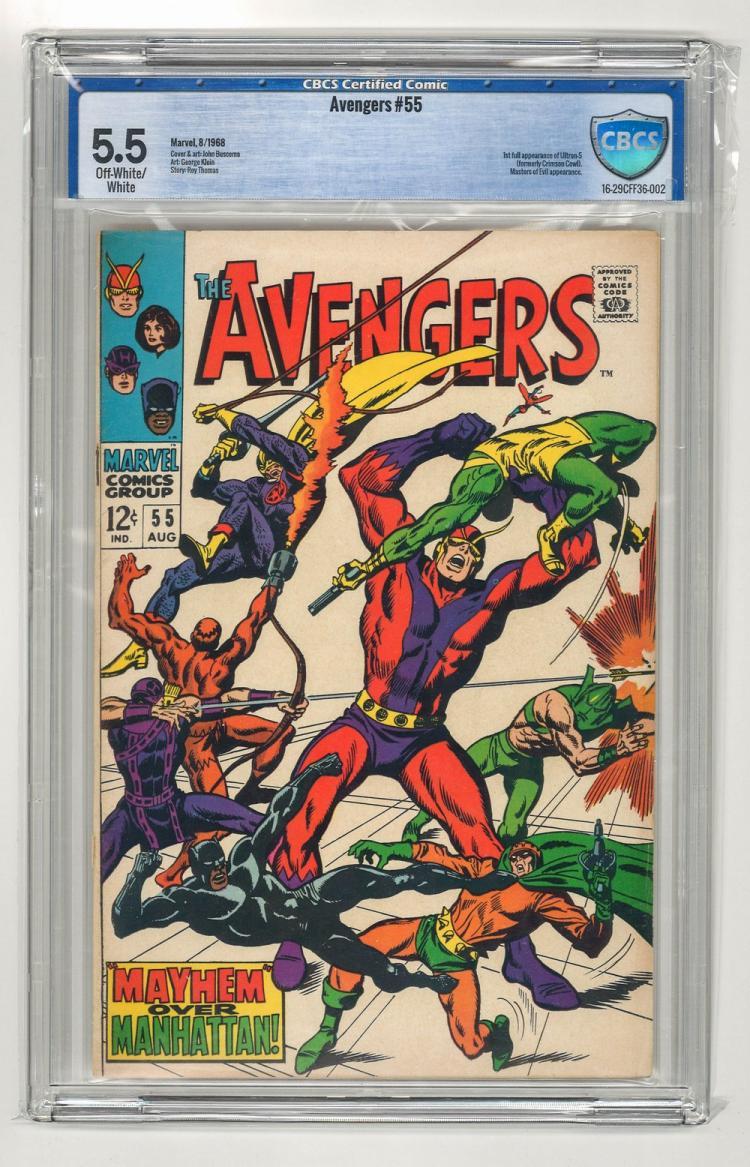 CBCS 5.5 Avengers #55 1968
