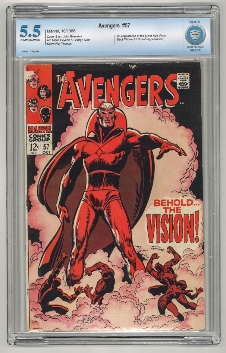 CBCS 5.5 Avengers #57 1968