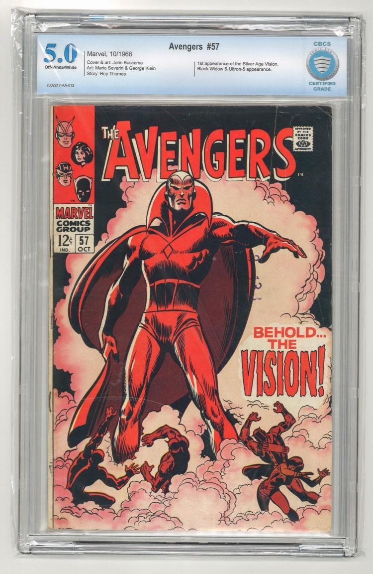 CBCS 5.0 Avengers #57 1968