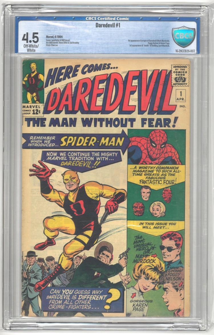 CBCS 4.5 Daredevil #1 1964