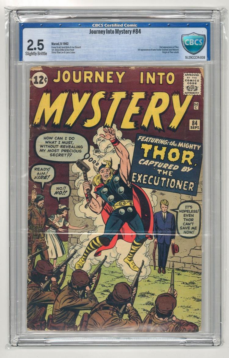 CBCS 2.5 Journey Into Mystery #84 1962