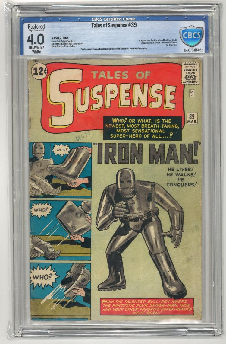 CBCS 4.0 Tales of Suspense #39 1963