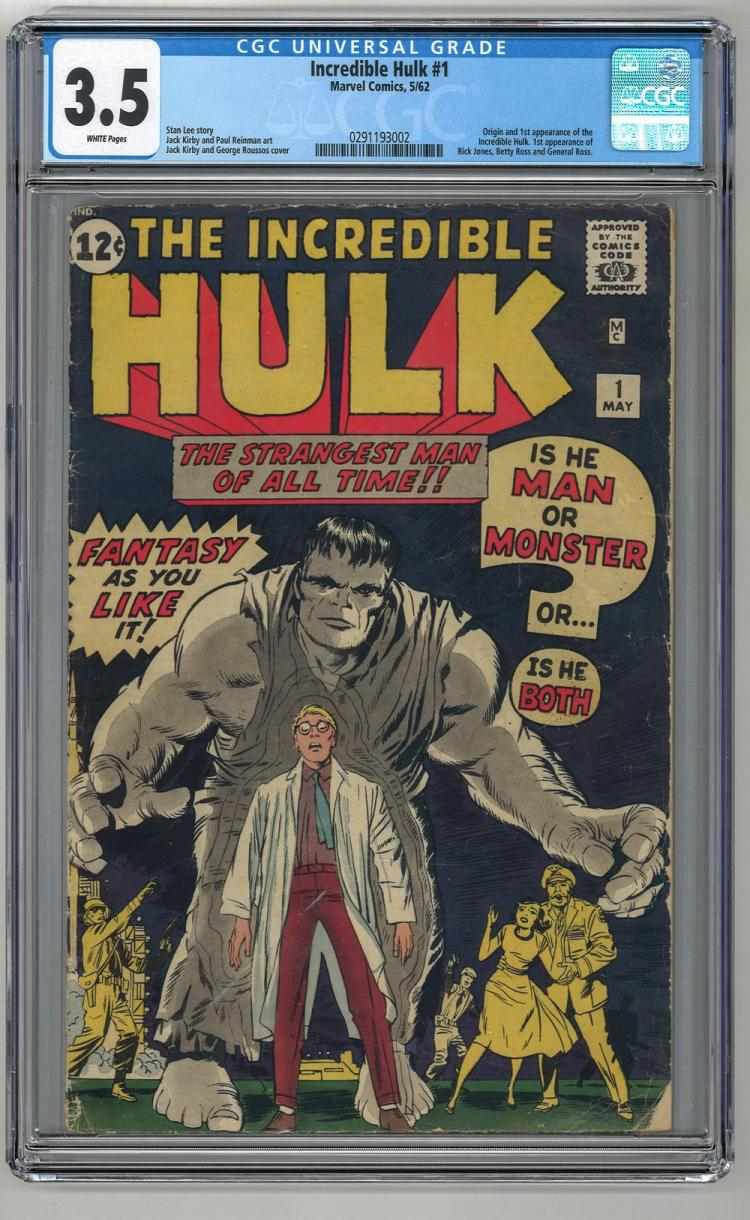 CGC 3.5 Incredible Hulk #1 1962