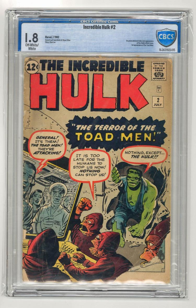 CBCS 1.8 Incredible Hulk #2 1962
