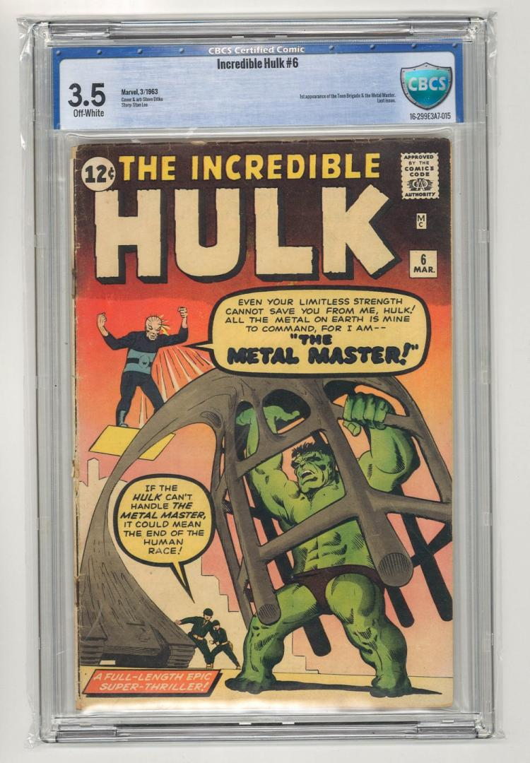 CBCS 3.5 Incredible Hulk #6 1963