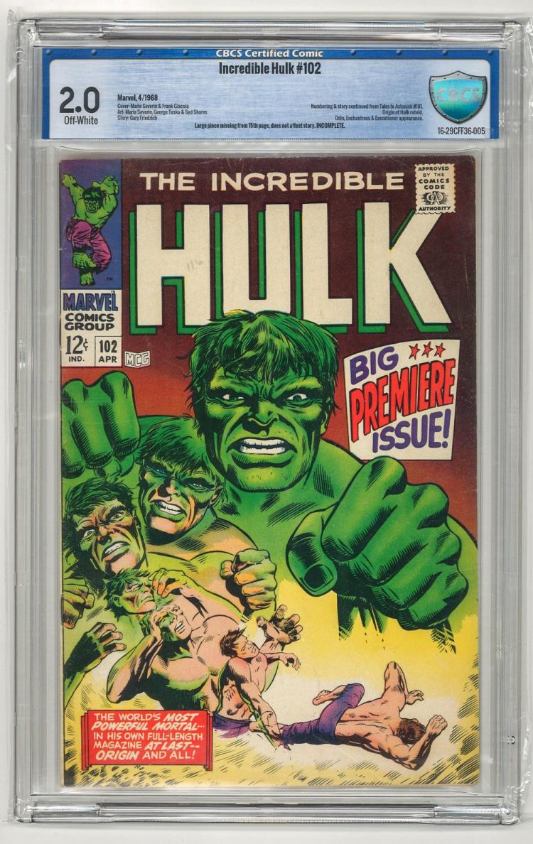 CBCS 2.0 Incredible Hulk #102 1968