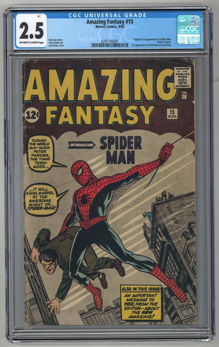 CGC 2.5 Amazing Fantasy #15 1962