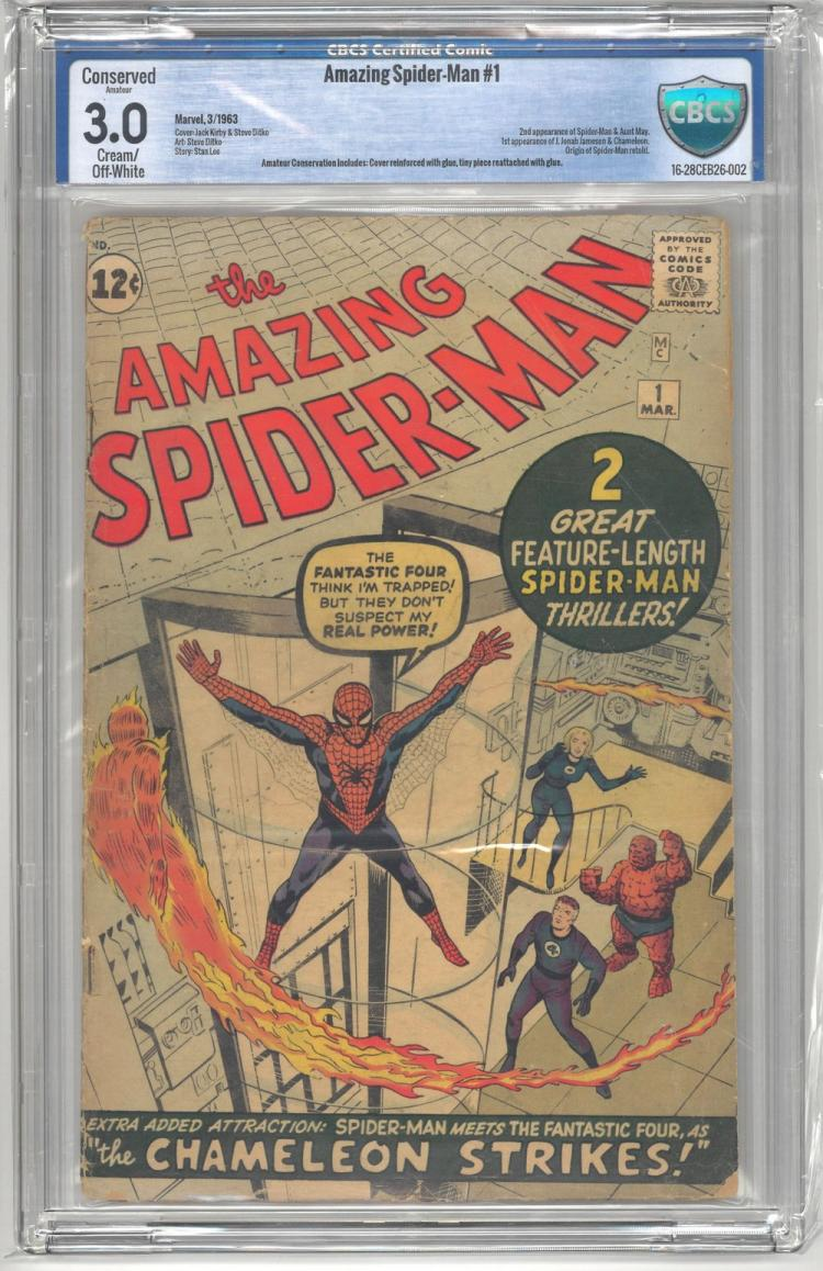 CBCS 3.0 Amazing Spider-Man #1 1963