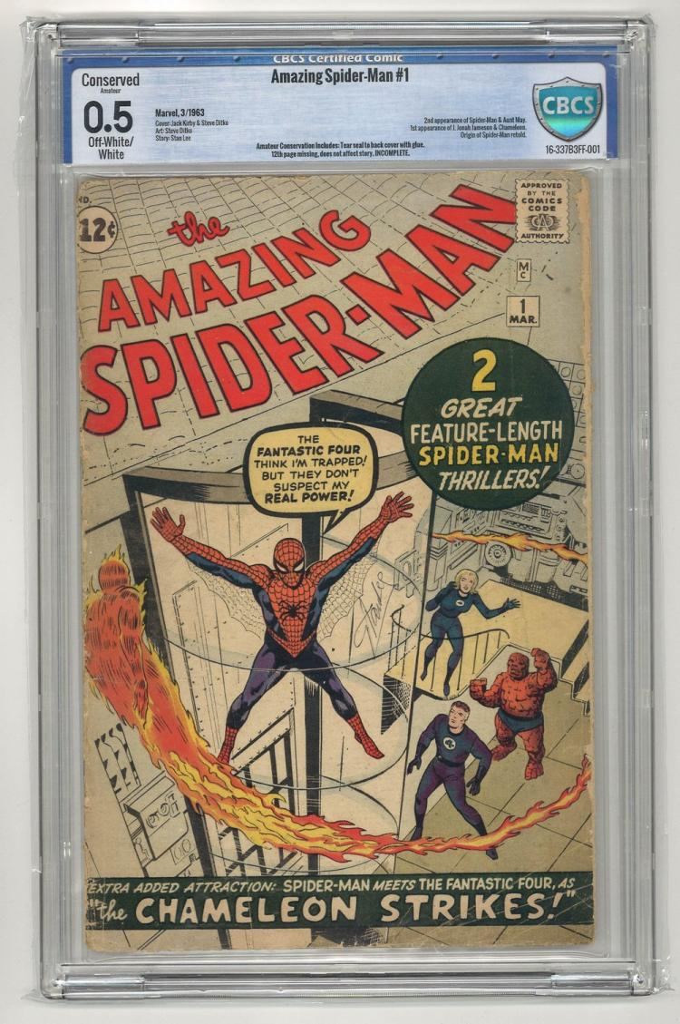 CBCS 0.5 Amazing Spider-Man #1 1963