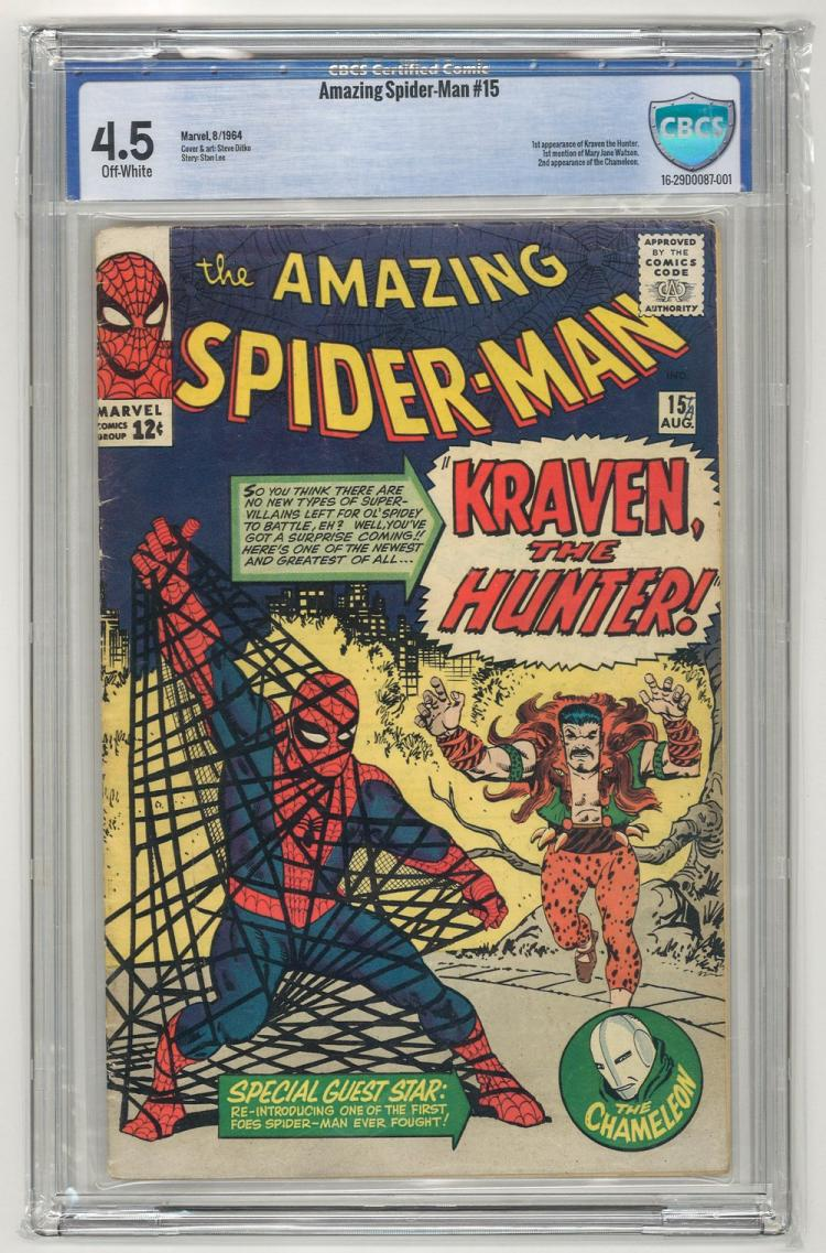 CBCS 4.5 Amazing Spider-Man #15 1964