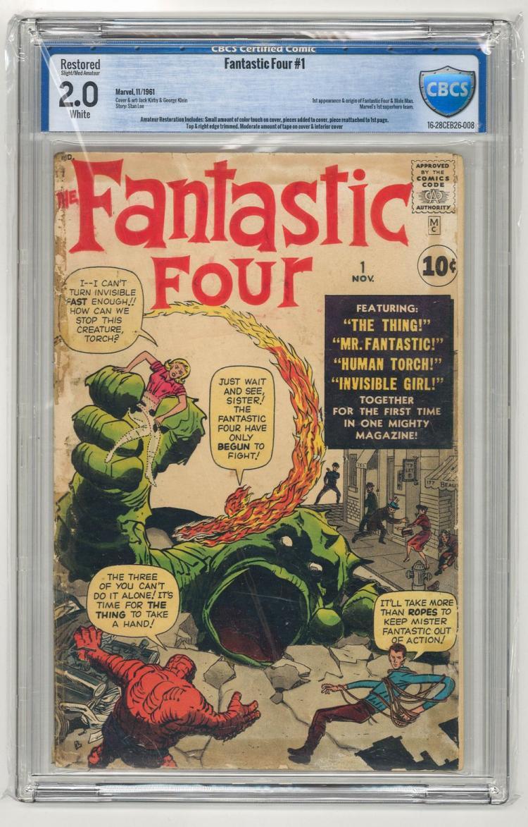 CBCS 2.0 Fantastic Four #1 1961