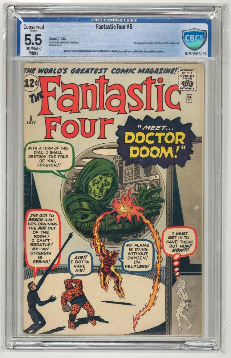 CBCS 5.5 Fantastic Four #5 1962