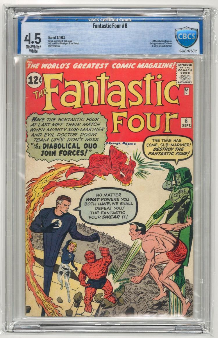 CBCS 4.5 Fantastic Four #6 1962