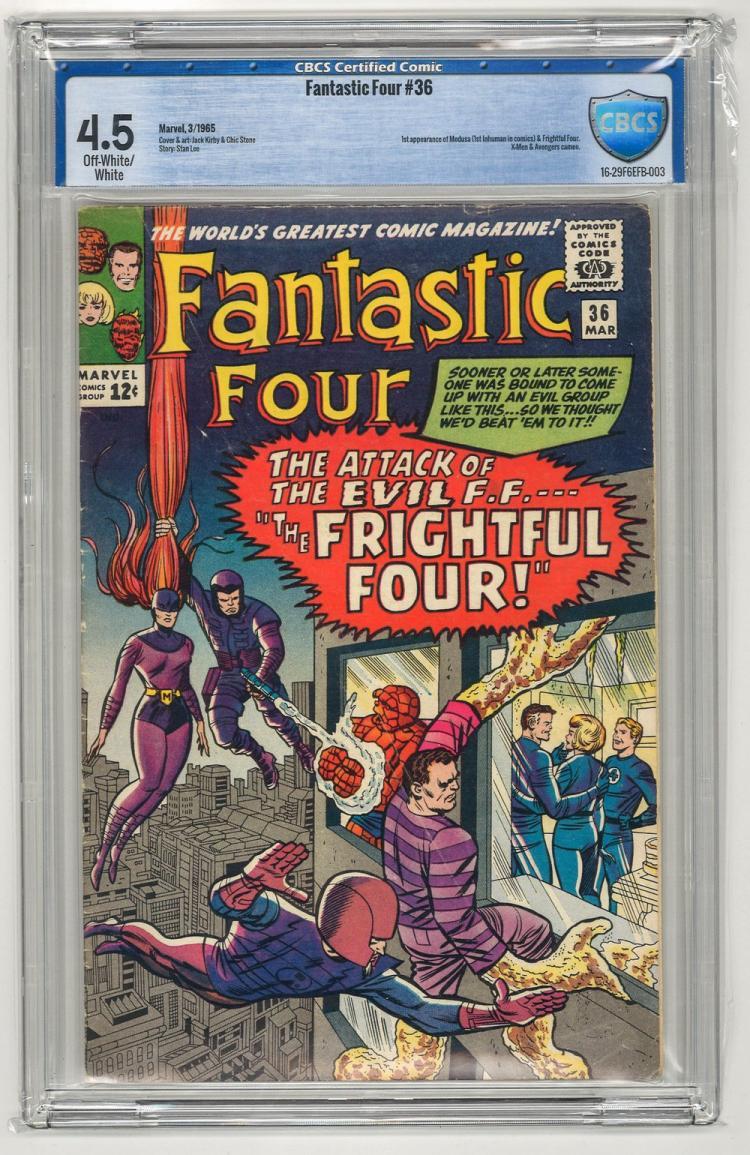 CBCS 4.5 Fantastic Four #36 1965