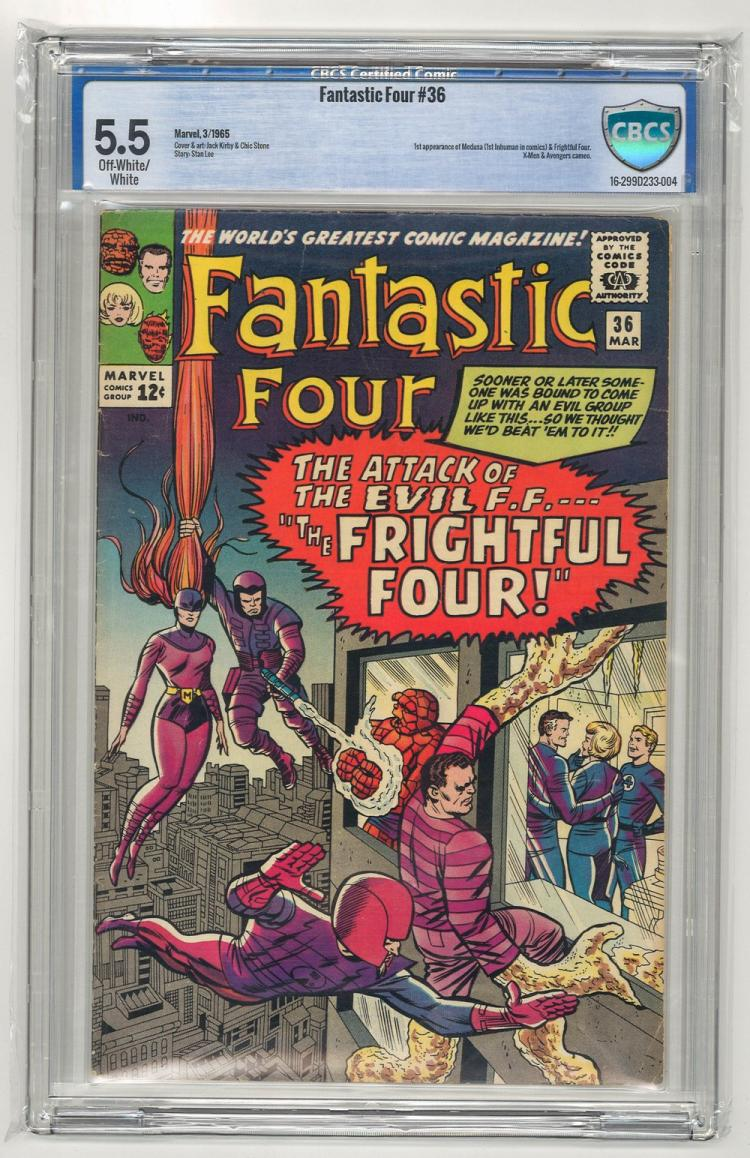 CBCS 5.5 Fantastic Four #36 1965