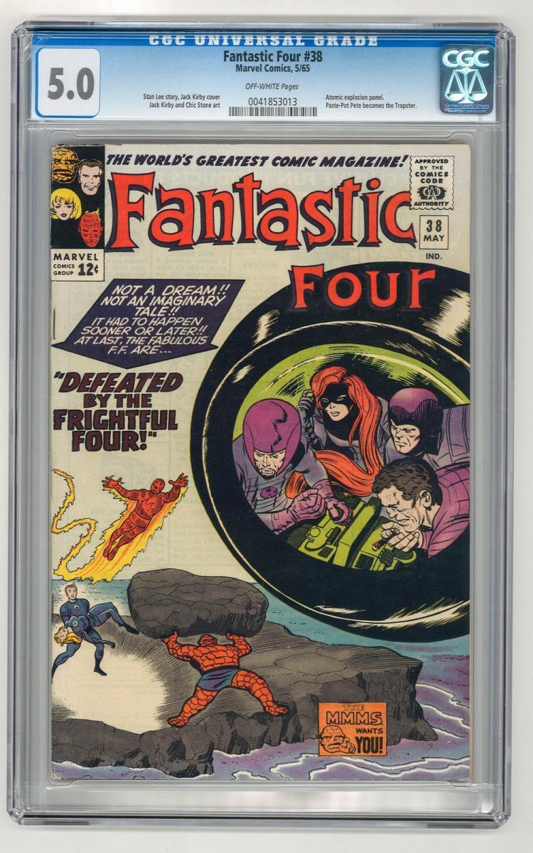 CGC 5.0 Fantastic Four #38 1965