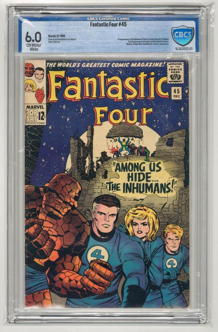 CBCS 6.0 Fantastic Four #45 1965