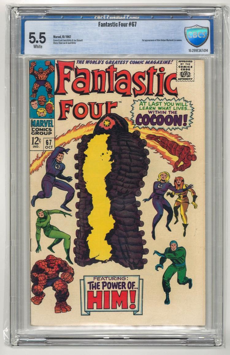 CBCS 5.5 Fantastic Four #67 1967