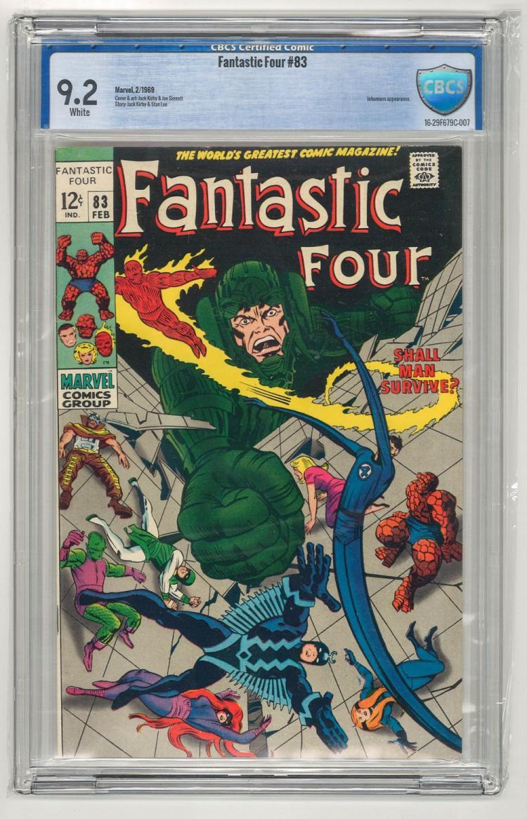 CBCS 9.2 Fantastic Four #83 1969