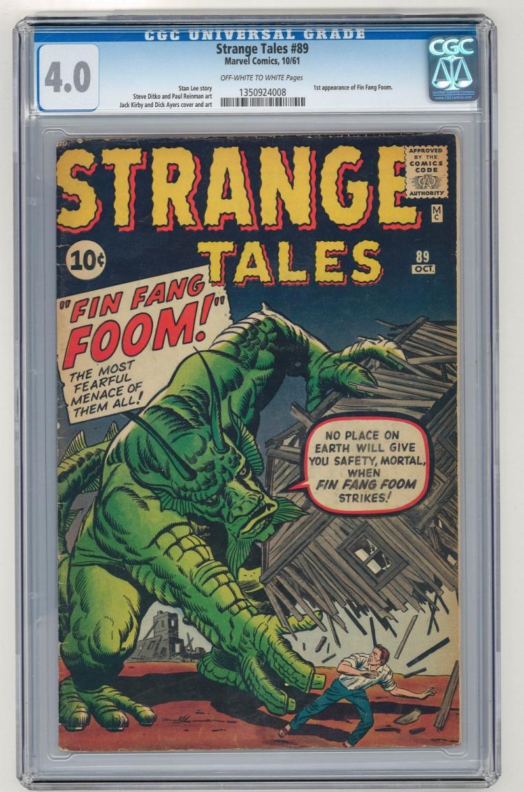 CGC 4.0 Strange Tales #89 1961